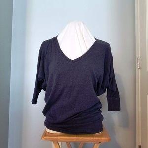 Market & Spruce blue dolman sleeved sweater, m